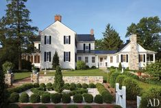 Old-Style+Farm+House+Plans | ... Locke's Federal-Style Virginia Farmhouse : Architectural Digest