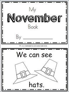 Free November Book For Kindergarten (10 pages)