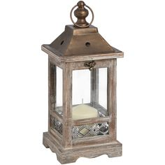 Brown Wooden Lantern