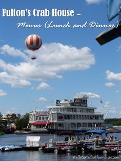 Fulton's Crab House Menu #disney #disneyworld #disneydining