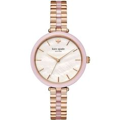 Kate Spade New York Rose Goldtone & Blush Pink Acetate Holland Watch (3.337.000 IDR) ❤ liked on Polyvore featuring jewelry, watches, rose gold, kate spade jewelry, quartz movement watches, bezel jewelry, pink jewelry and butterfly jewelry