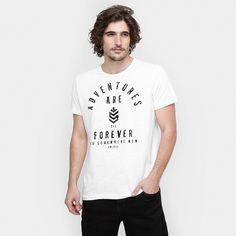 Camiseta Colcci Forever Estampada Off White   Zattini