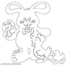 RUČNÍ PRÁCE - JARNÍ - VELIKONOČNÍ VYSTŘIHOVÁNKY 3 Easter Art, Easter Crafts, Paper Cutting, Cut Paper, Easter Holidays, Care Bears, Scroll Saw, Kirigami, Flocking