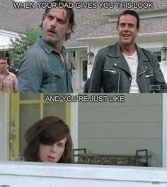 Yeah, when Negan said Carl snuck into his compound to kill him I thought Rick was gonna KILL him! That head tilt says it ALL!