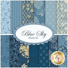 Blue%20Sky%2013%20FQ%20Set%20-%20Denim%20Set%20by%20Edyta%20Sitar%20for%20Andover%20Fabrics:%20Blue%20Sky%20is%20lovely%20a%20collection%20by%20Edyta%20Sitar%20for%20Andover%20Fabrics.%20100%%20Cotton.%20This%20set%20contains%2013%20fat%20quarters,%20each%20measuring%20approximately%2018