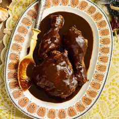 This rich, velvety mole sauce recipe gets flavor from spices, chocolate, dried chiles and nuts.