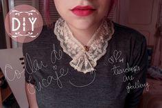 Teardrops Are Falling: DIY Collar de Encaje / Detachable Lace Collar