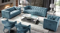 Great offers on the Besp-Oak Contemporary Sofas Fitzgerald Metal & Glass End Table from Oak Furniture House. Oak Furniture House, Blue Furniture, Furniture Design, Decor Interior Design, Interior Design Living Room, Room Interior, Living Room Sets, Living Room Decor, Sofa Set Online