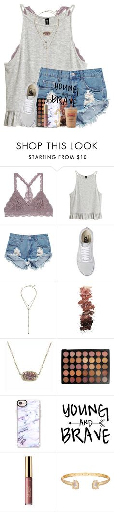 """&&; do you ever think of me and how you treated me"" by abbypj ❤ liked on Polyvore featuring Boohoo, Vans, Kendra Scott, L.A. Girl, Morphe, Casetify and tarte"