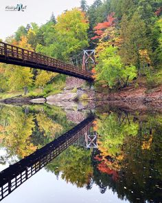Fall reflections at Black River Harbor, in Michigan's Upper Peninsula.. north of Bessemer, MI ~ Photo by Michigan Nut Photography <3