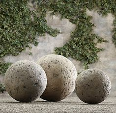 My Sweet Savannah: ~thrifty Thursday~{working with concrete} - I love the concrete ball sculpture for the garden.
