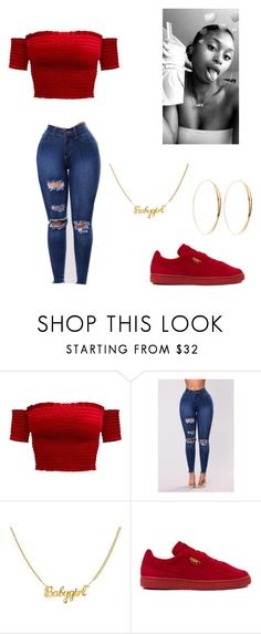 """Untitled #22"" by princessjayw ❤ liked on Polyvore featuring Puma and Lana"