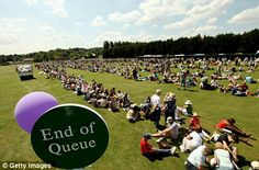 End of queue - Wimbledon