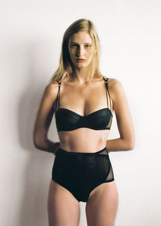The Lexi bra is an underwire style with pleat mesh panels across the cups, met with sheer mesh through the sides and back. Lexi bra by Lonely Label. High Waisted Briefs, Scandinavian Fashion, Black Bralette, Passion For Fashion, Bikinis, Swimwear, Bodysuit, Lonely, Lingerie