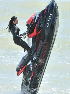 One of my growing hobbies has become Jet Skiing. I love to Jet Ski. When I ride the Jet Ski i feel as if I'm on a motorcycle but I feel safer because I have water under me. Ski Doo, Water Toys, Cafe Racer, Getting Wet, Extreme Sports, Water Crafts, Harley Davidson, Skiing, Cool Photos