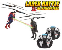 Get your hands on this fun #DCComics Officially Licensed #Batman Vs. #Superman Laser Battle #rchelicopter from #hobbytron. #rcheli #hthelicopter #batmanvsuperman -- Get yours today for only $68.95.
