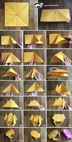Origami crab children activities, more than 2000 coloring pages Origami Mouse, Origami 3d, Origami Star Box, Origami Dragon, Origami Fish, Paper Crafts Origami, Origami Flowers, Paper Crafting, Simple Origami