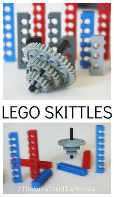 Homemade Lego Skittles Game