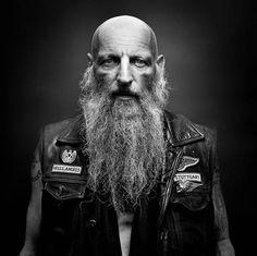 Bikers - Hells Angels Portraits von Nicolas Auproux