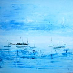 Boats on St Mary's, Scilly Isles. Prints and cards from original artwork available.