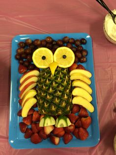 how to make owl veggie tray