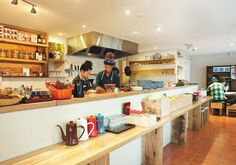 Hidden in the backstreets of Collingwood, Aka Siro is a cheery place for a Japanese lunch. Cafe Restaurant, Restaurant Design, Bakery Interior, Interior Design, Japanese Bakery, Coffee Shop Business, Cafe Style, Cool Cafe, Coffee And Books