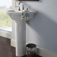 Tropic Petite 21 Inch Pedestal Sink - American Standard Bathroom Sinks