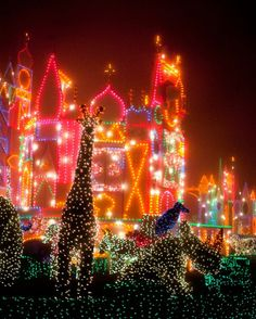 Disney Parks After Dark « Disney Parks Blog It's A Small World Christmas