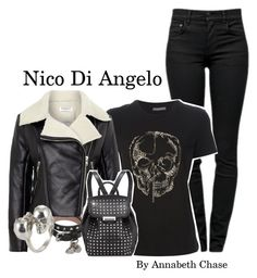 """Nico Di Angelo ~PJO/HOO ~ Scarlet"" by fandom-girls ❤ liked on Polyvore featuring Proenza Schouler, Alexander McQueen, Glamorous, Alexander Wang and ScarletsMagicBounds"