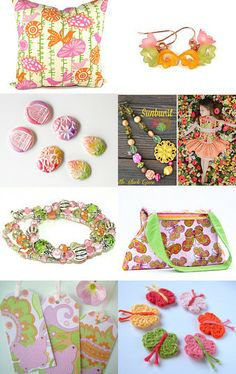 A Pastel Spring Dream by Sylvia Swasey on Etsy--Pinned with TreasuryPin.com