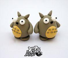Totoro by Dee Raa Arts polymer ghibli japan clay cute kawaii sculpey fimo https://www.facebook.com/DeeRaaArts