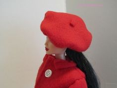 Red beret for Barbie Tutorial