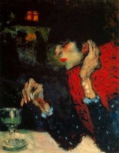 Pablo Picasso The Absinthe Drinker 1901 1 print for sale. Shop for Pablo Picasso The Absinthe Drinker 1901 1 painting and frame at discount price, ships in 24 hours. Pablo Picasso, Kunst Picasso, Art Picasso, Picasso Blue, Picasso Paintings, Picasso Images, Absinthe Drinker, Cubist Movement, Spanish Painters