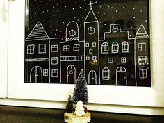 20 Creative DIY Wall Decor Ideas [Unique, Cool, Easy, and Brilliant] Christmas Decorations, Christmas Ornaments, Holiday Decor, Chalk Pens, Christmas Doodles, Window Art, Diy Wall Decor, Christmas Home, Creative