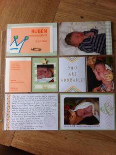 Project Live  'Ruben's Geboorte' gemaakt met Stampin' Up! materialen en papier.