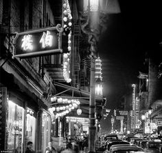 San Francisco 1940 | Nighttime in Chinatown in San Francisco sometime between 1940-1960