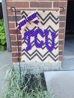 TCU College Burlap Garden Flag by RKCreativeDesign on Etsy