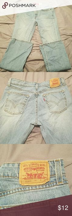 Levi's 519 low flare Light washed jeans in excellent condition they are true to size  9 Jr long flare jeans. Levi's Jeans