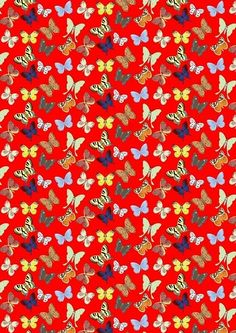 Butterfly backing paper