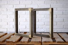 Set of 2  legs for bench bench legs coffee table by ArtzoneSigns