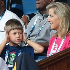 anythingandeverythingroyals:  The Countess of Wessex and her son James, Viscount Severn, attended the Rugby Sevens, Day 3 of the Commonwealth Games, Glasgow, Scotland, July 26, 2014