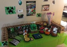 My minecraft party table