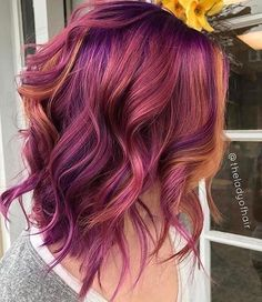 Related image colorful hair hair, purple hair и dyed hair Ombre Hair Color, Cool Hair Color, Red Purple Hair, Amazing Hair Color, 2 Tone Hair Color, Cabelo Ombre Hair, Crazy Hair, Fall Hair, Hair Today