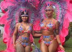 Amber Rose And Blac Chyna Take Over #TrinidadCarnival 2016 Showing Off Their Ass-ets
