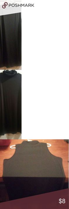 Black Sleeveless Mockneck dress EUC. Never been worn. Super soft and silky stretchy material. Unfortunately it doesn't have tags but I would guess it's around a XL. Measurements from pit to pit is 20in. NA Dresses Midi