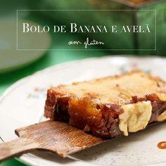 bolo de banana e avelã
