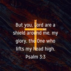 Psalms But you, LORD, are a shield around me, my glory, the One who lifts my head high. Bible Verses Quotes, Bible Scriptures, The Lord Reigns, Praise Songs, Women Of Faith, Faith Prayer, Gods Promises, Spiritual Inspiration, Christian Faith