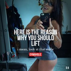 Here Is The Reason Why Should Lift  I mean, look at that smile!  Michelle Lewin  Why women should lift