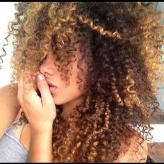 curly colored hair
