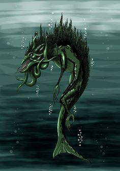 # LKU-TURSO- Finnish myth: an evil bearded sea monster. He was said to be the source of all diseases and a god of war.